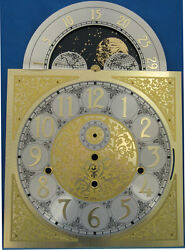 Grandfather Clock Dial Hermle 1161-853 NEW Brass Color Moon 15 1/2 x 11 NICE