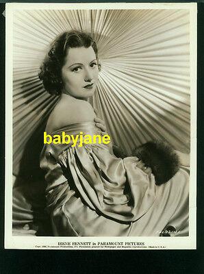 IRENE BENNETT VINTAGE 8X10 PHOTO 1936 PARAMOUNT PICTURES PORTRAIT