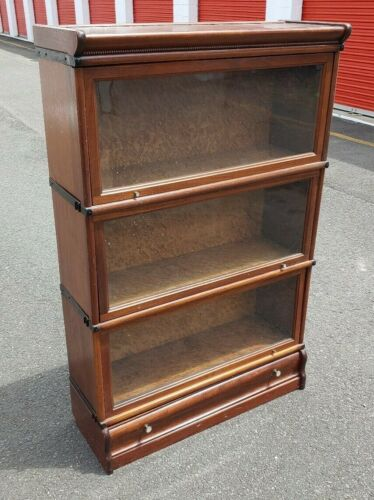 Antique c)1903 Macey Stacking Barrister Bookcase w/ Bottom Drawer