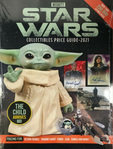 New 2021 Beckett Star Wars Collectibles Price Guide Book With The Child Cover