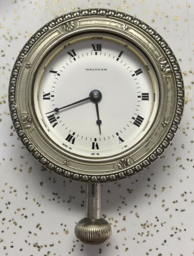 Waltham Watch Co Car Clock 37s 15 Jewel Older Type With Jewels Held With Screws