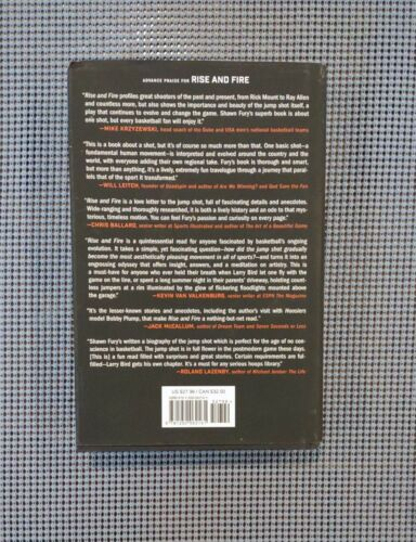 1ST Edition Rise And Fire The Art Of The Jump Shot Book W/ Sleeve Cover 2016  - $9.99