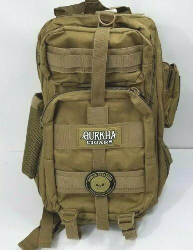 GURKHA Cigars Assassins Tactical Outdoor Hiking Backpack Tan NEW
