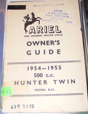 ARIEL 500cc HUNTER TWIN MODEL K.H OWNER'S GUIDE  1954-55