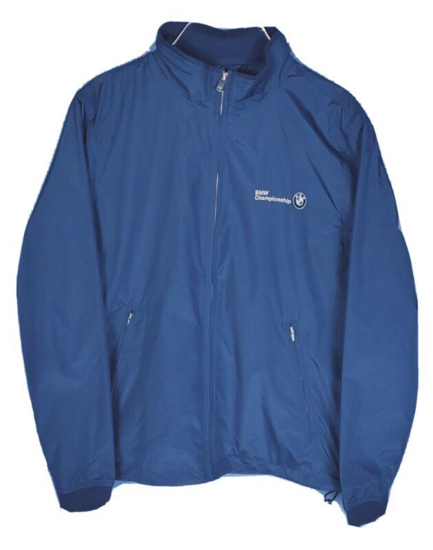 Women Large Peter Millar BMW Championship Golf Blue Full Zip Lined Vented Jacket