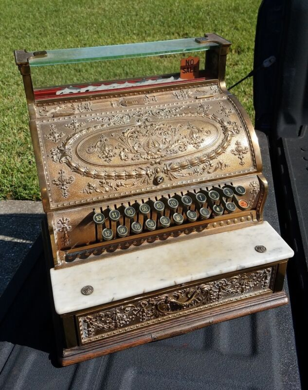 1911 National Brass Cash Register Model 332 Myerstown Pennsylvania NCR