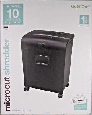 GoECOLife GMW101Pi Black 10 Sheet Untra Quiet Microcut Shredder
