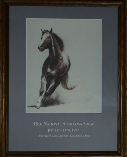 "William Matthews Litho Watercolor Print, ""1992, 45th National Appaloosa Show"""