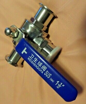 3-way Ball Valve Sus 1-12 Inch Sanitary Ball Valve Stainless Steel 304.