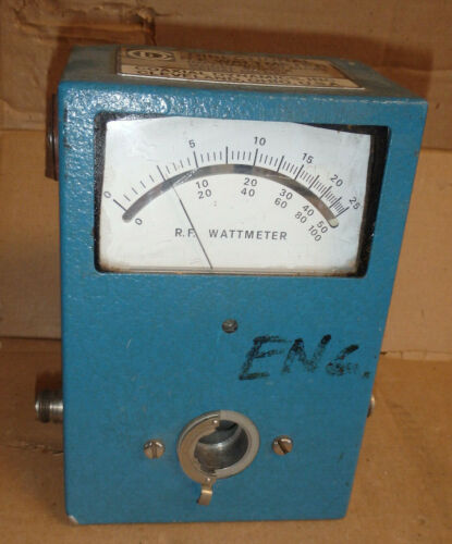 COAXIAL DYNAMICS 81000A MIRRORED SCALE DIRECTIONAL R.F. WATTMETER