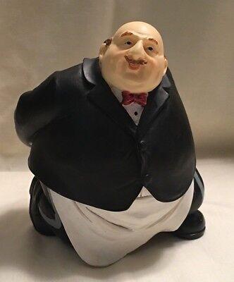 Waiter Butler Wine Bottle Holder * Fat Chef * Bottle Caddy Chef Wine Bottle Holder