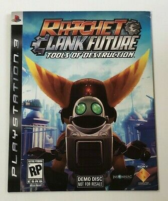 NEW Ratchet & Clank Future: Tools of Destruction PlayStation 3 DEMO Disc PS3