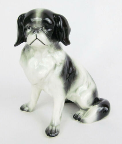"Vintage Germany Porcelain 5"" Japanese Chin Spaniel Dog Figurine - Wonderful!"