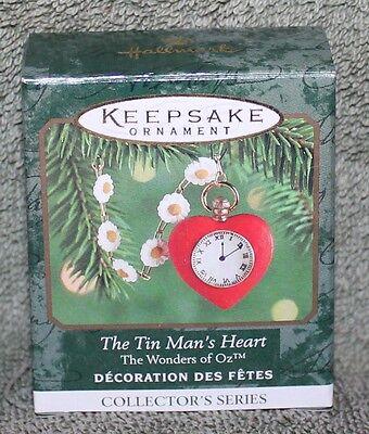 Hallmark Keepsake Wizard Of Oz Tin Man's Heart Miniature Ornament 1999