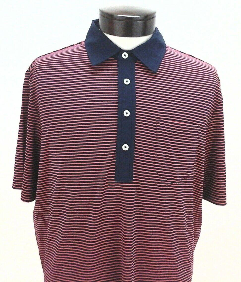 Rlx Golf Ralph Lauren Men Red Blue Striped Sport Polo Shirt Sp17 New