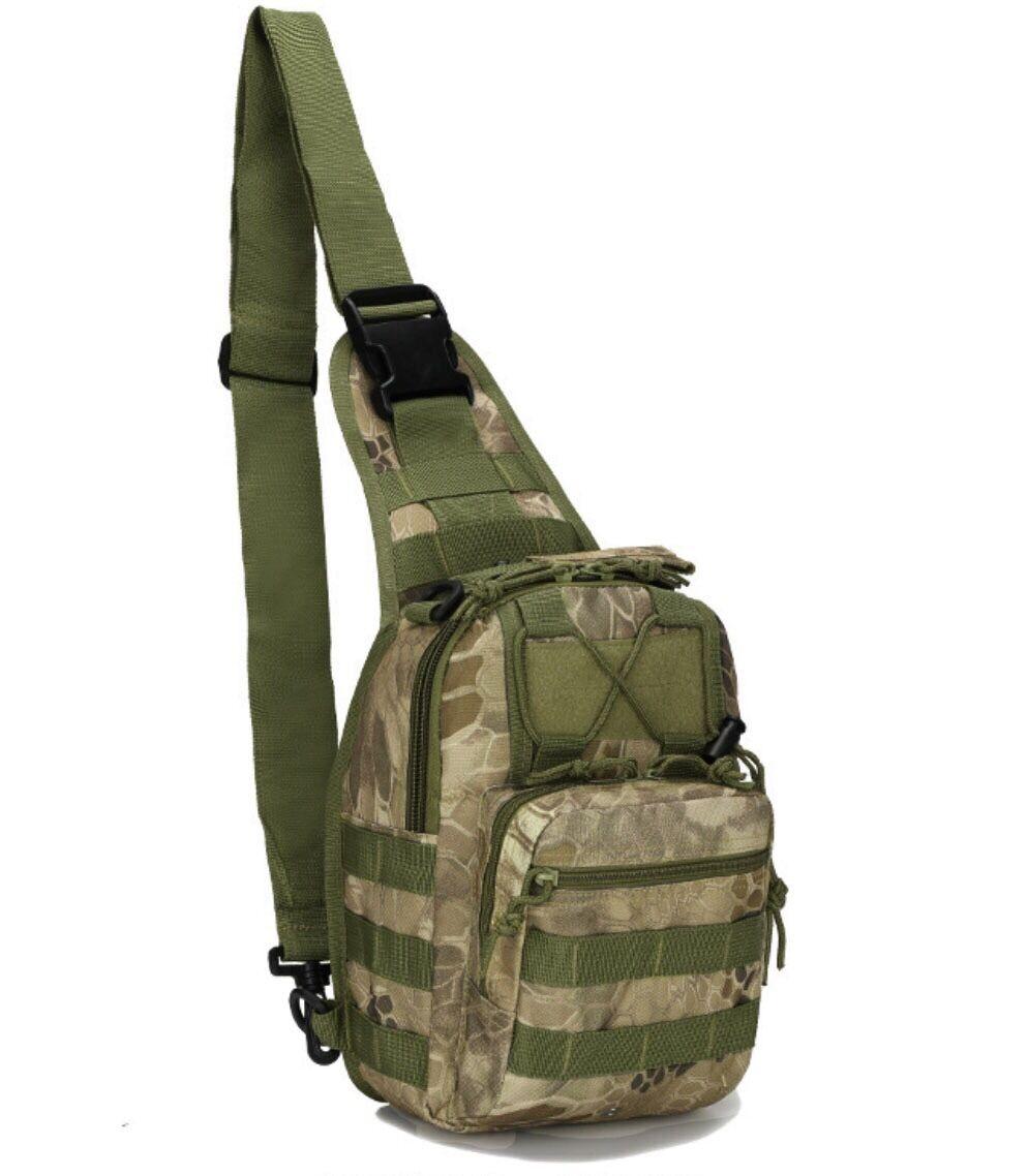 Outdoor Shoulder Military Tactical Backpack Travel Camping  Hiking Trekking Bag Green pythons grain