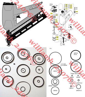 Senco Sn4 Sn Iv Framing Nailer O-ring Kit