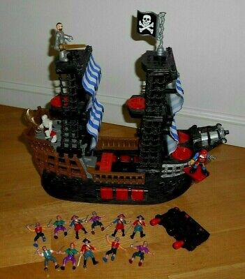 2006 Fisher Price Imaginext Pirate Ship with 3 Original Pirates and More!