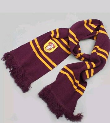 Harry Potter Gryffindor Thicken Wool Knit Scarf Wrap Warm Costume gift