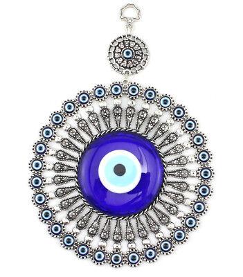 D11 Turkish Evil Blue Eye Glass L28cm Charm Wall Hanging Amulet Nazar Boncuk