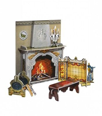 FIREPLACE and Home Decor Dollhouse Furniture Miniatures Cardboard Model Kit (260 - Cardboard Fireplace Decoration