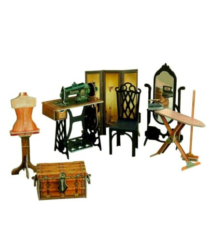 Sewing Worksh Furniture Dolls Furnishing Dollhouse Room Miniature 1/12 CARDBOARD