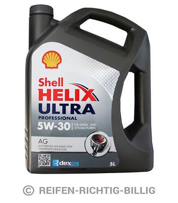 Motoröl Shell Helix Ultra Professional AG GM Opel dexos2 5W-30 5 Liter 5L online kaufen