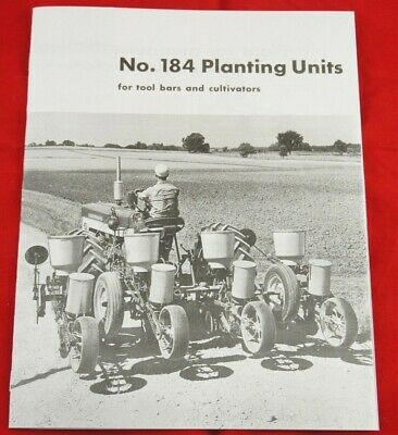 Ih Mccormick 184 Seed Planter Unit Sales Brochure Farmall Cub Super A 140 460