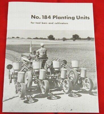 Ih Mccormick 184 Seed Planter Unit Sales Brochure Farmall Cub Super A 140 460