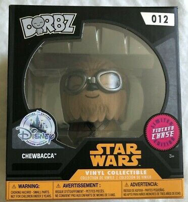 FUNKO DORBZ STAR WARS CHEWBACCA DISNEY FLOCKED CHASE LIMITED EDITION VINYL #014