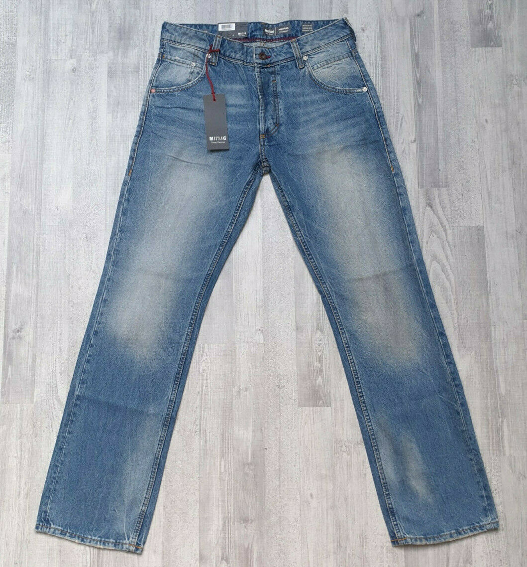 MUSTANG MICHIGAN STRAIGHT ☆ Regular Medium Herren Jeans ☆ markanter Used-Effekt