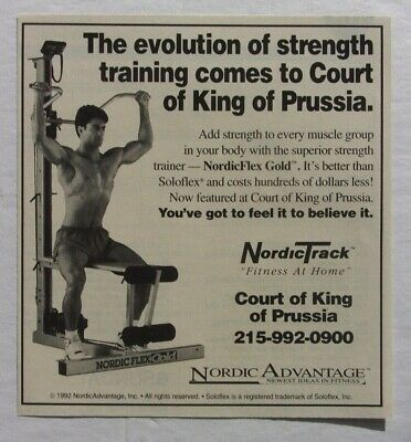 1992 NordicTrack Advertisement Court King of Prussia
