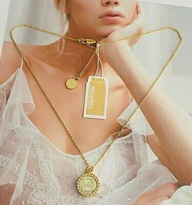 Michael Kors Golden Tone Logo  Necklace