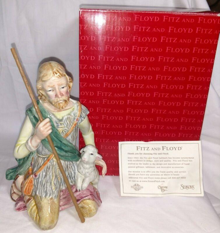 FITZ & FLOYD NATIVITY SHEPHERD MAN FIGURINE  619-212