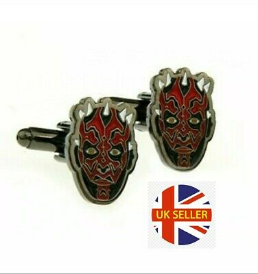 NEW Darth Maul Cufflinks Star Wars Episode 1 Jedi Rebel Darth Vader Men Gift🇬🇧