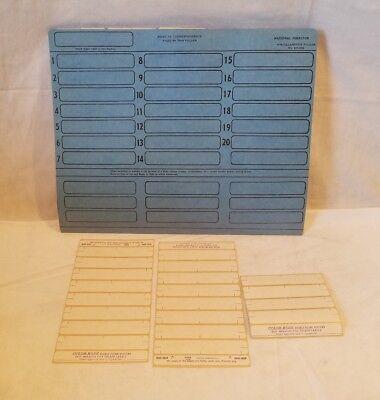 Nos Color Code Visible Filing System Blue 20 Misc Folders 20 Labels Bm-504