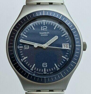 Swatch Watch Hypothese YGS4013AG 2002 Irony Big Blue 37mm Aluminium Date