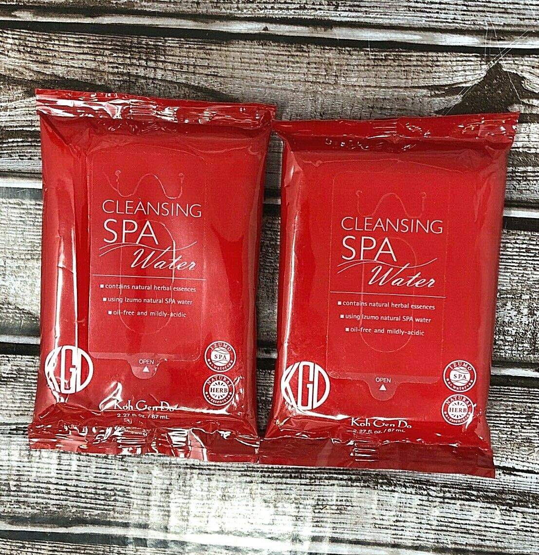 2 PACK KOH GEN DO Cleansing Spa Water 10-Pack Ultra Mild Clo