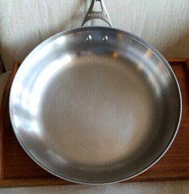 "CALPHALON 12"" STAINLESS SKILLET Frypan 1392 EUC Induction Ceramic omelette Pan Calphalon Stainless Steel Skillet"