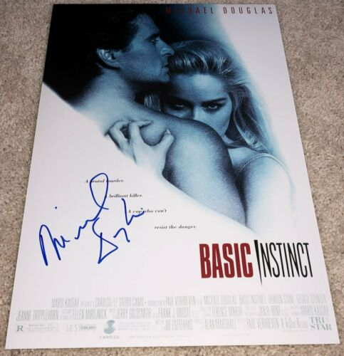 MICHAEL DOUGLAS SIGNED AUTOGRAPH BASIC INSTINCT 12x18 PHOTO POSTER w/EXACT PROOF