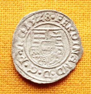 Medieval Hungarian Coin - Ferdinand Denar, 1528. Madonna and Baby Jesus, C-Lily - Graz, Austria, Österreich - Medieval Hungarian Coin - Ferdinand Denar, 1528. Madonna and Baby Jesus, C-Lily - Graz, Austria, Österreich