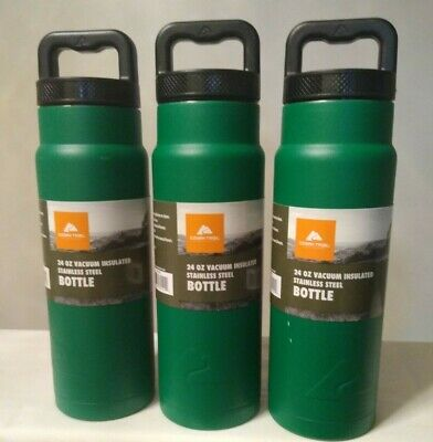 Lot Of 3 Ozark Trail 24oz Double wall Vacuum sealed Stainless Steel Water Bottle for sale  Shipping to South Africa