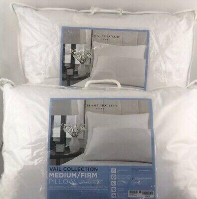 Charter Club VAIL European Feather & Down Medium Firm STANDARD QUEEN Pillows European Down Pillow