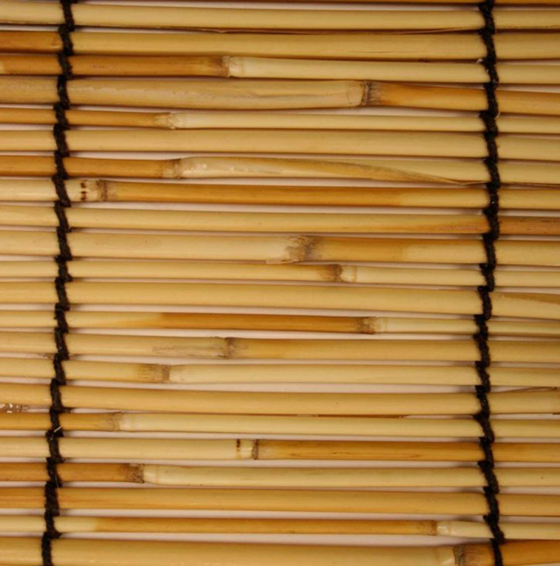 Indoor Outdoor Window Blinds Natural Roll Up Shade Sun Bambo