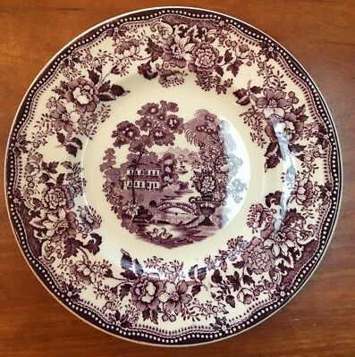 Royal Staffordshire Purple Tonquin Bread Plates by Clarice Cliff