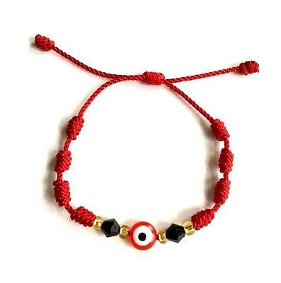 Red string Red evil eye bracelet good luck adjustable adults,kids