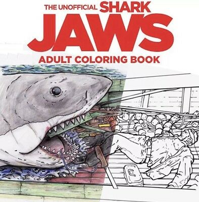 Adult Movi (Jaws Adult Coloring Book Shark Horror Movie Chief Brody Amity Great White)