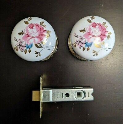 Gainsborough Genuine Porcelain Rose Hall & Closet Non-Locking Door Knob