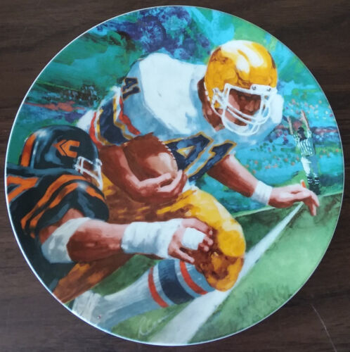 """Moments Of Victory Football 1985 Avon Ray Cara Plate 7"""""""