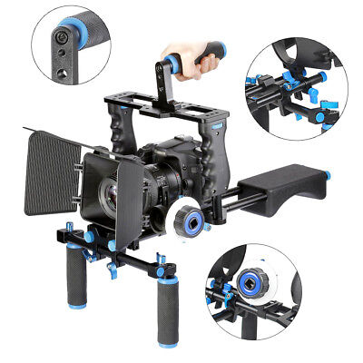 DSLR Rig Shoulder Video Camera Stabilizer Support Cage/Matte Box/Follow Focus